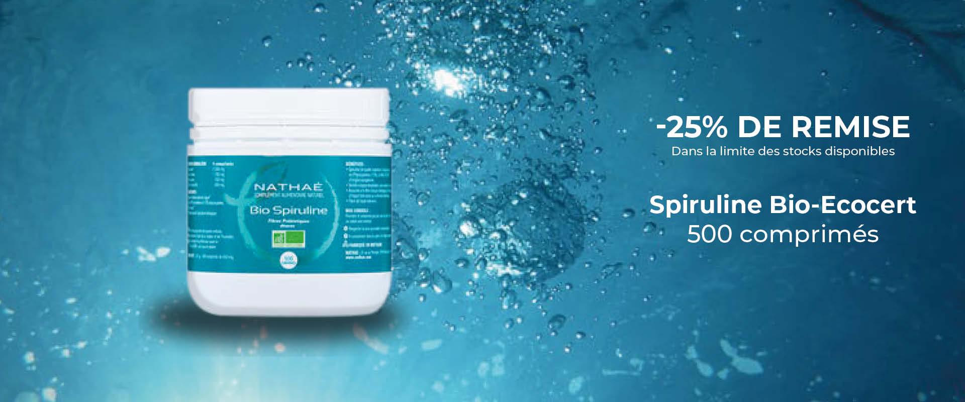 Spiruline -Bio - Ecocert - 500 comprimés